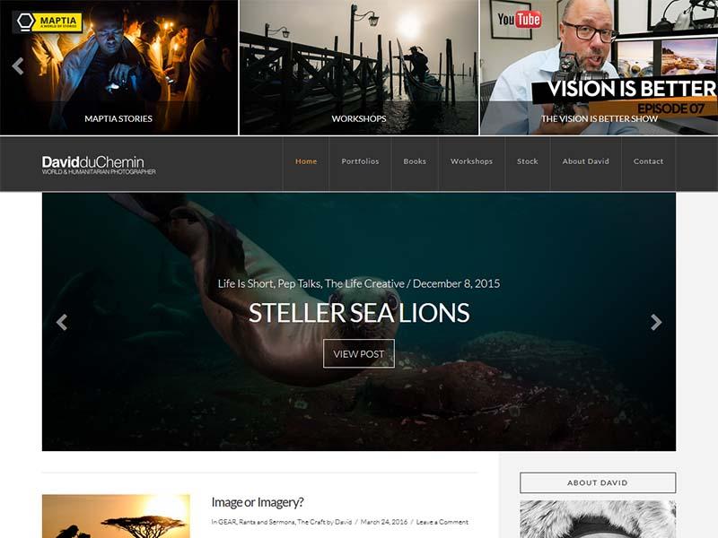 David duChemin - Website Screenshot