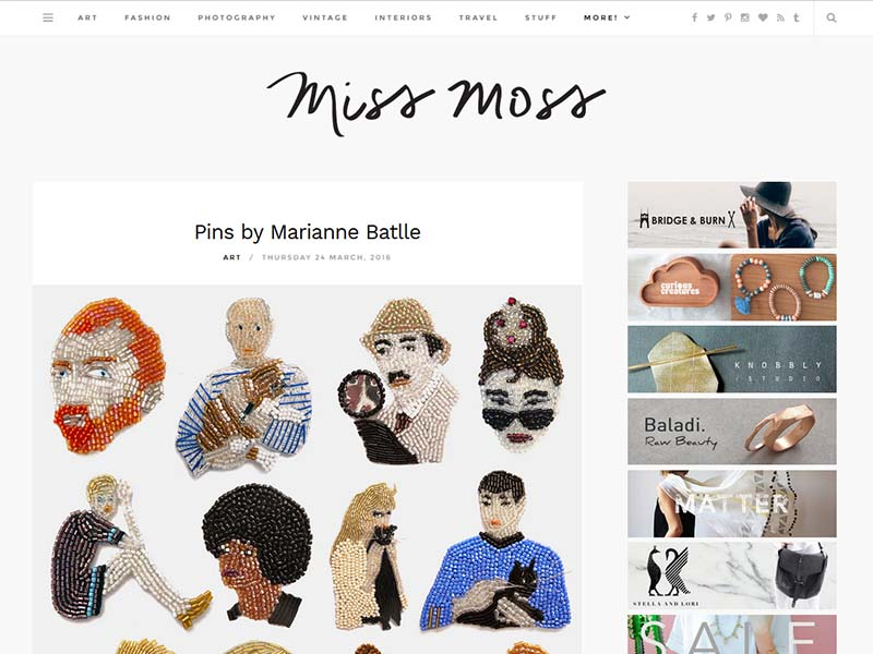 Miss Moss - Website Screenshot