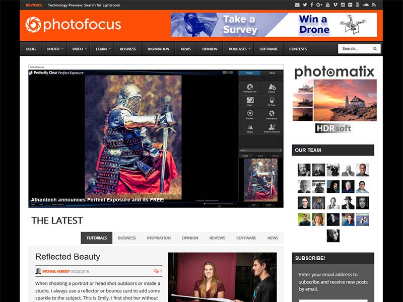 Photofocus - Website Screenshot