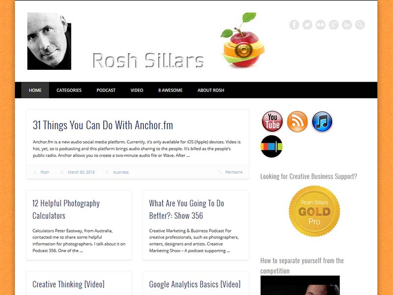 Rosh Sillars - Website Screenshot