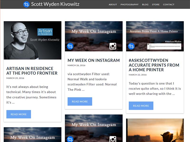 Scott Wyden - Website Screenshot