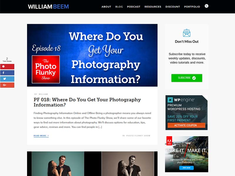 William Beem - Website Screenshot