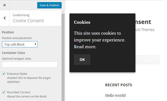 UK Cookie Conset