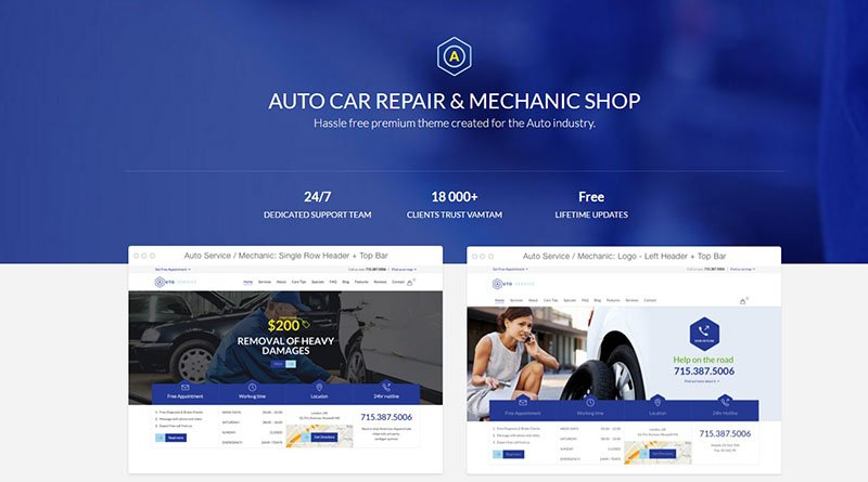 Auto Car Repair Mechanic Shop