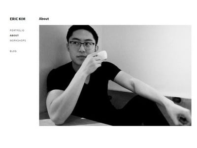 Eric Kim Photography - Website Screenshot