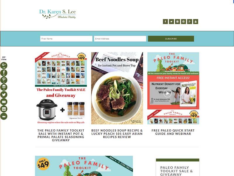 Dr. Karen S.Lee - Website Screenshot