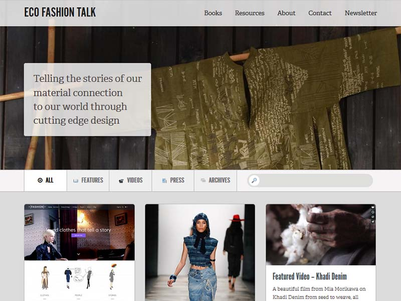 Eco Fashion Talk - Website Screenshot