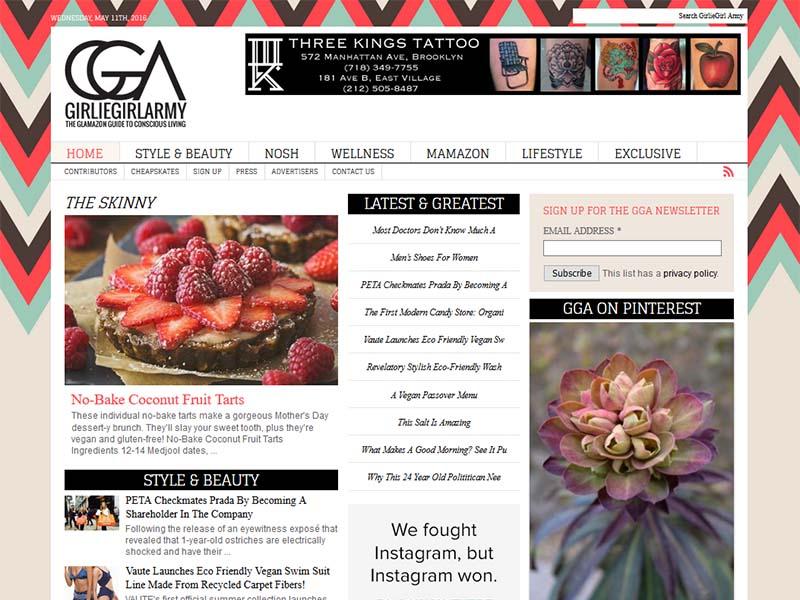 Girlie Girl Army - Website Screenshot
