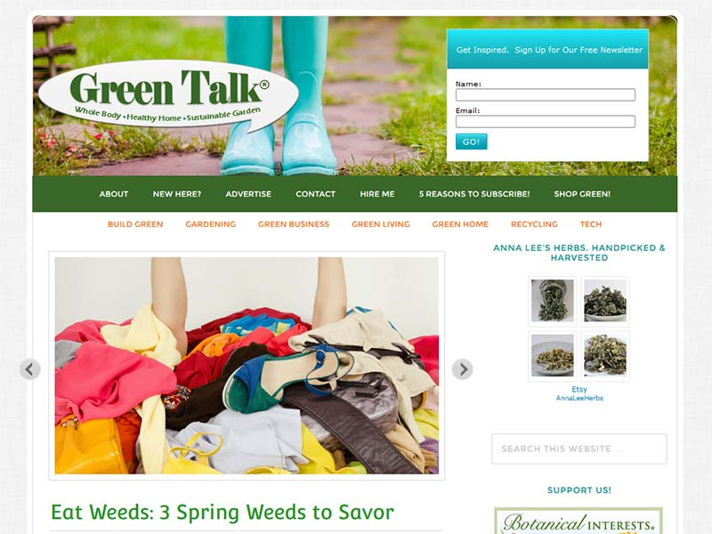 Green Talk - Website Screenshot