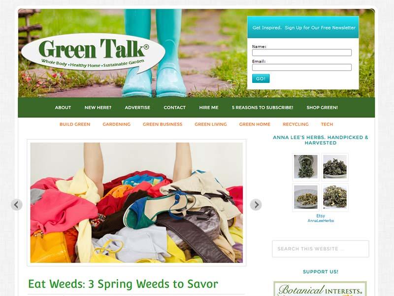 Green Talk - Website Screenshot