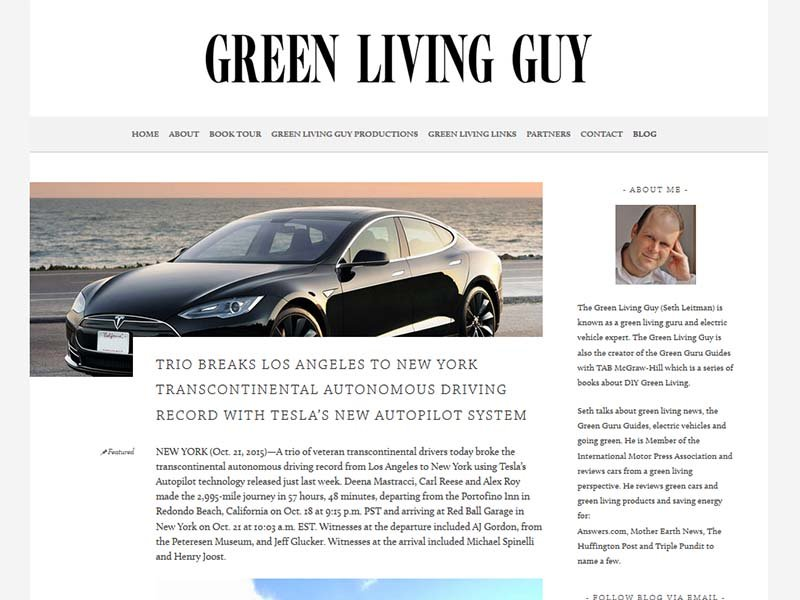 Green Living Guy - Website Screenshot