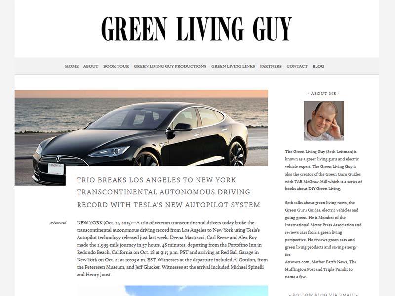 Green Living Guy - Website Screenshot