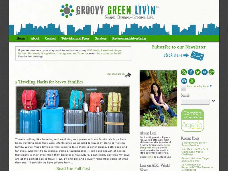 Groovy Green Livin - Website Screenshot