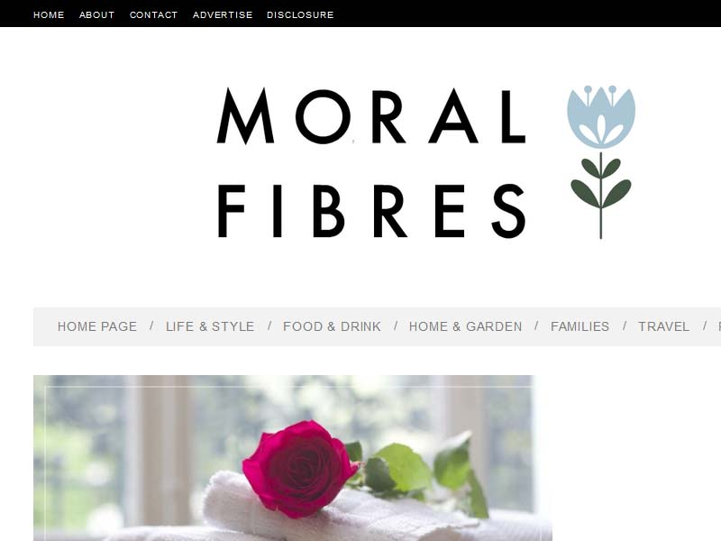 Moral Fibres - Website Screenshot