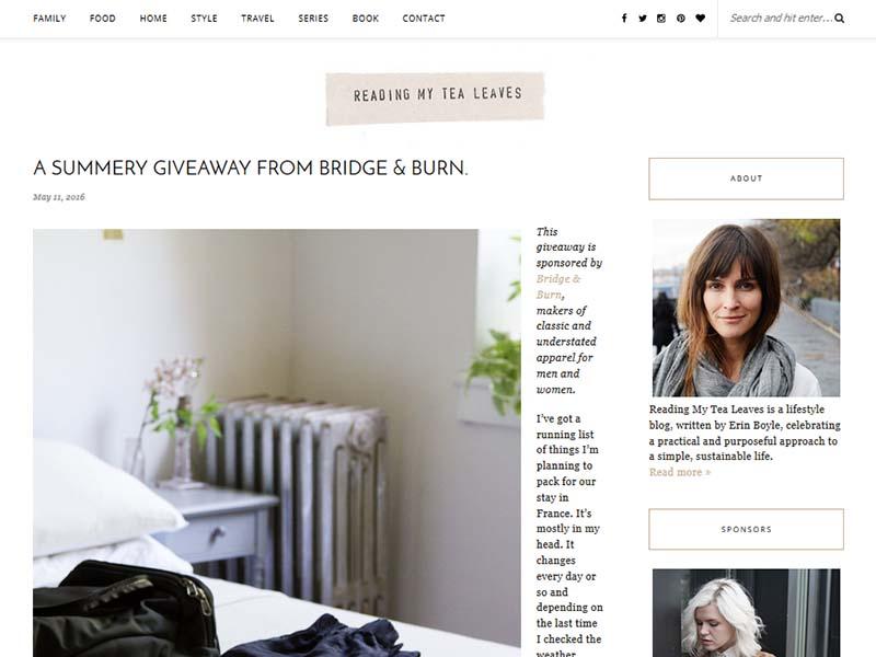 My Tea Leaves - Website Screenshot