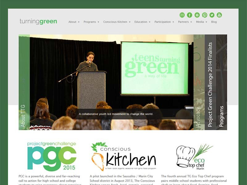 Turning Green - Website Screenshot