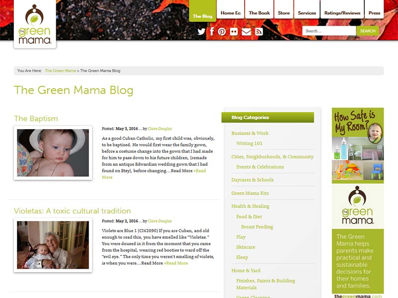 The Green Mama - Website Screenshot