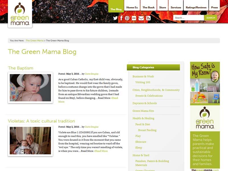 The Green Mama - Website Screenshot