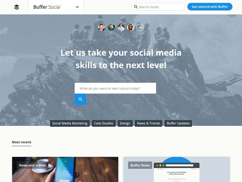 Buffer Social - Website Screenshot
