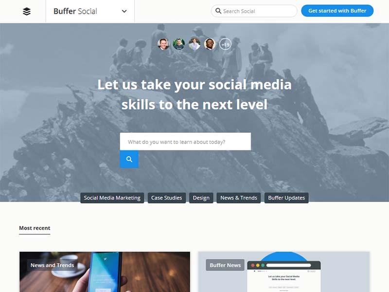 Buffer Social - Website Screenshot