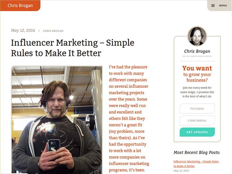 Chris Brogan - Website Screenshot