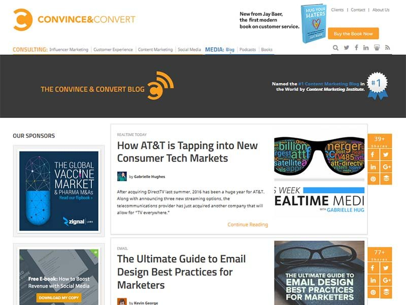 Convince and Convert - Website Screenshot