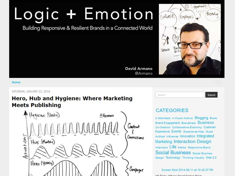 Logic + Emotion - Website Screenshot