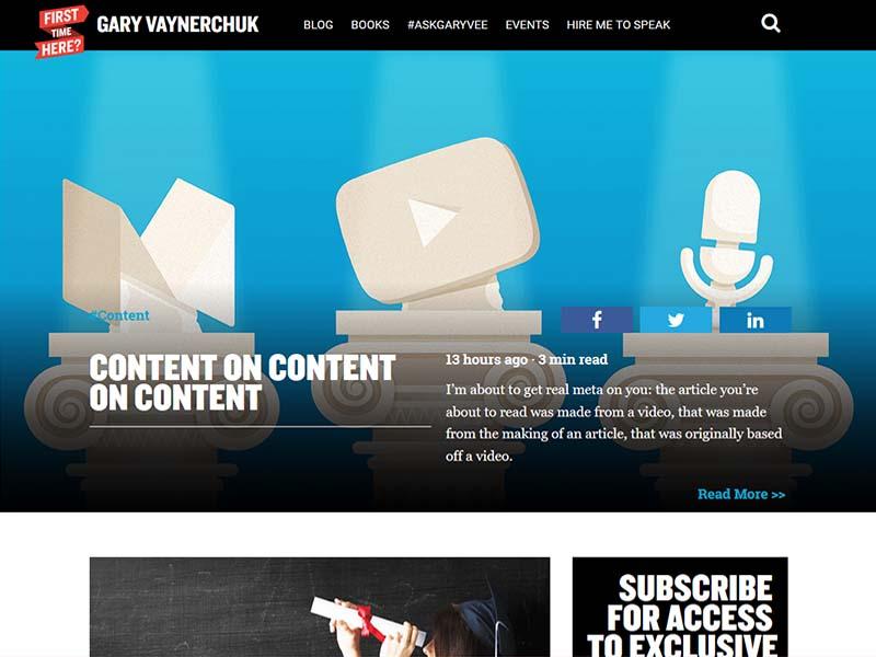 Gary Vaynerchuk - Website Screenshot