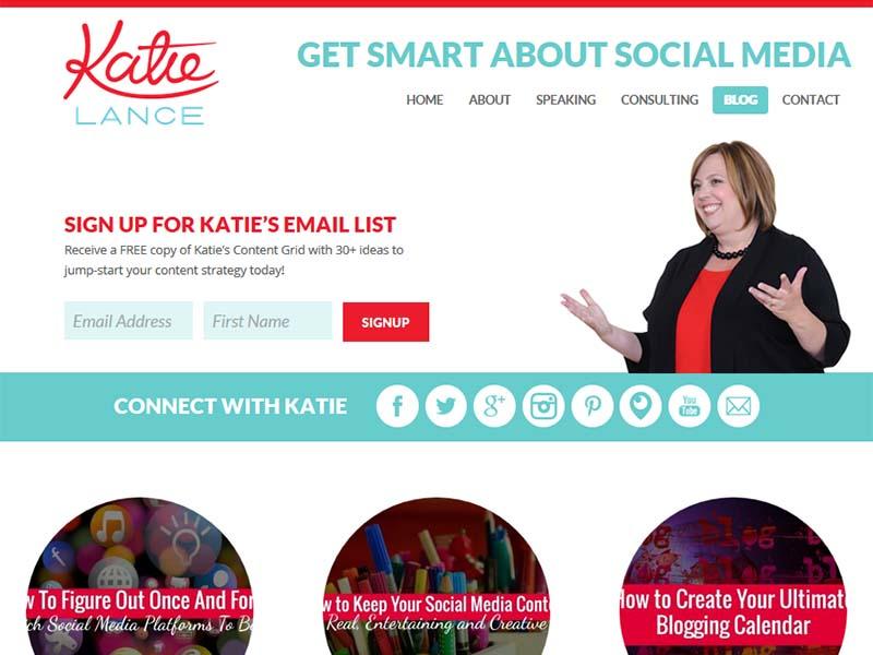 Katie Lance - Website Screenshot