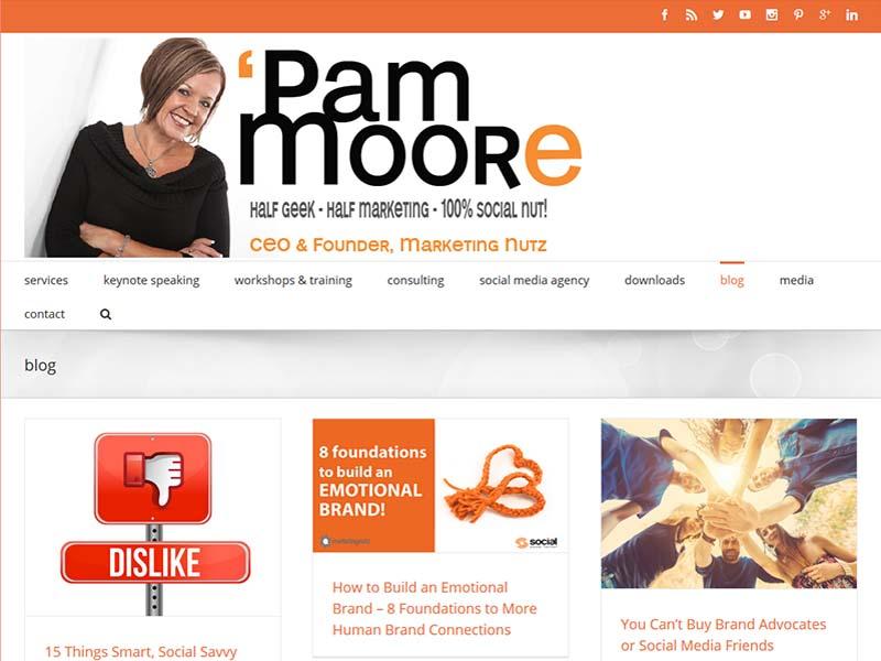 The Marketing Nut - Website Screenshot