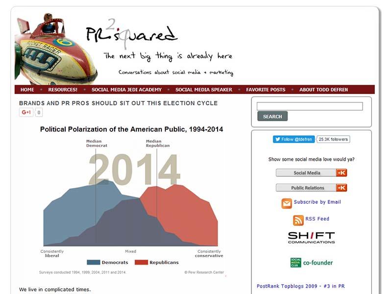 PR-Squared - Website Screenshot