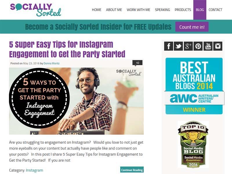 Socially Sorted - Website Screenshot