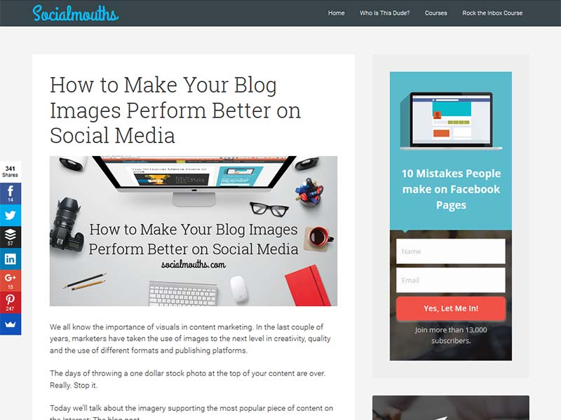Social Mouths - Website Screenshot