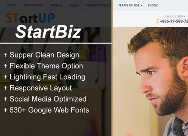 Startbiz Theme Screenshot