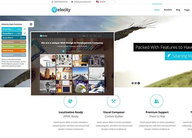 Velocity Theme Screenshot