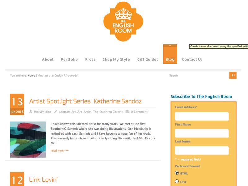 Musings of a Design Aficionado - Website Screenshot