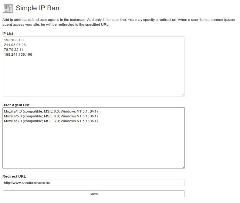 IP Ban plugin