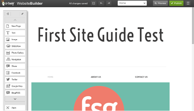 GoDaddy Website Editor GSG Test Page