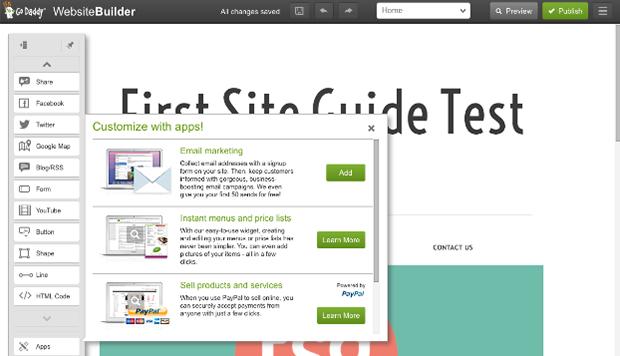 GoDaddy Website Editor - Customizing Website