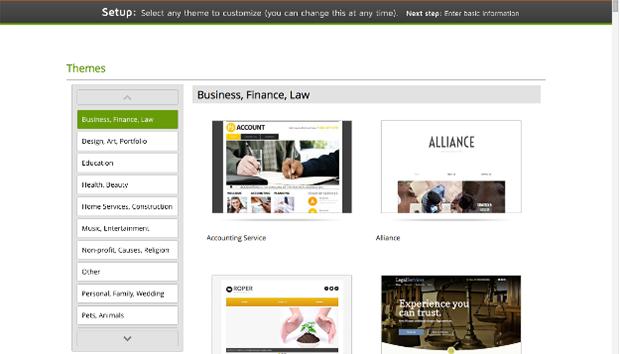 GoDaddy Website Editor - Website Templates