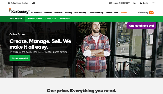 GoDaddy Website Editor - E-commerce Websites
