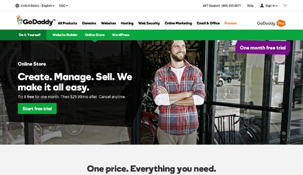 GoDaddy Website Editor - E-commerce Websites