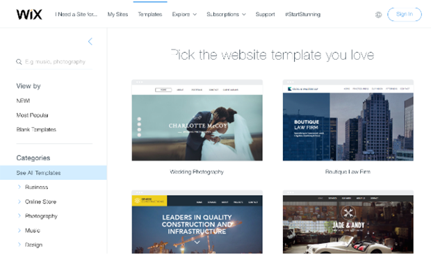 Wix Website Templates