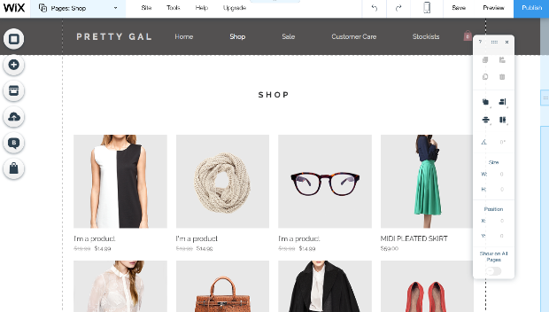 Wix Webshop Example