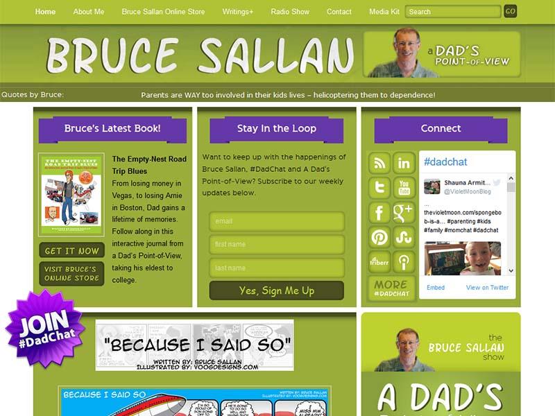 Bruce Sallan - Website Screenshot