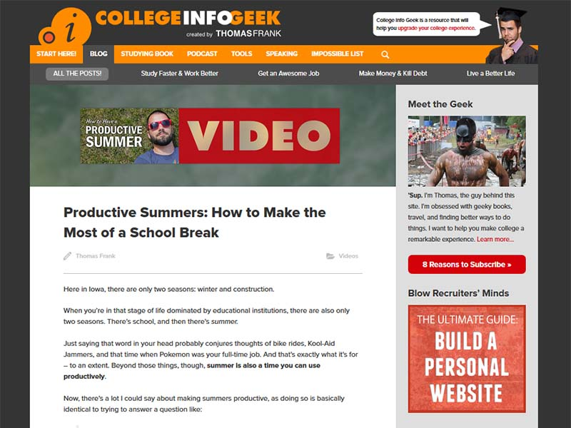 College Info Geek - Website Screenshot