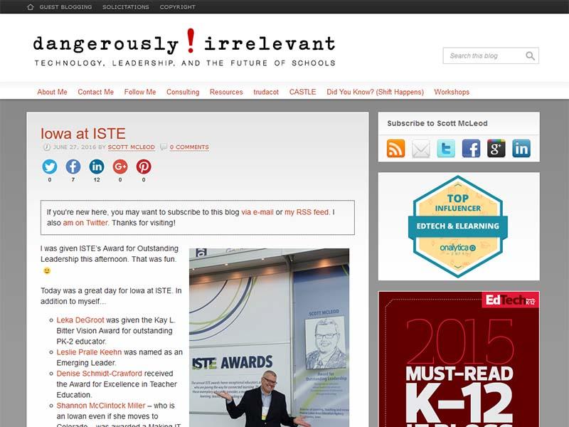 Dangerously Irrelevant - Website Screenshot