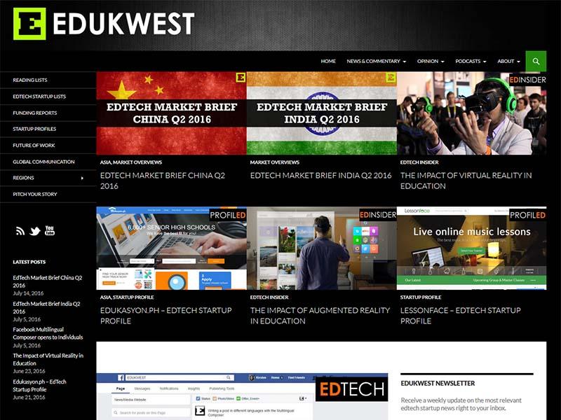 Edukwest - Website Screenshot