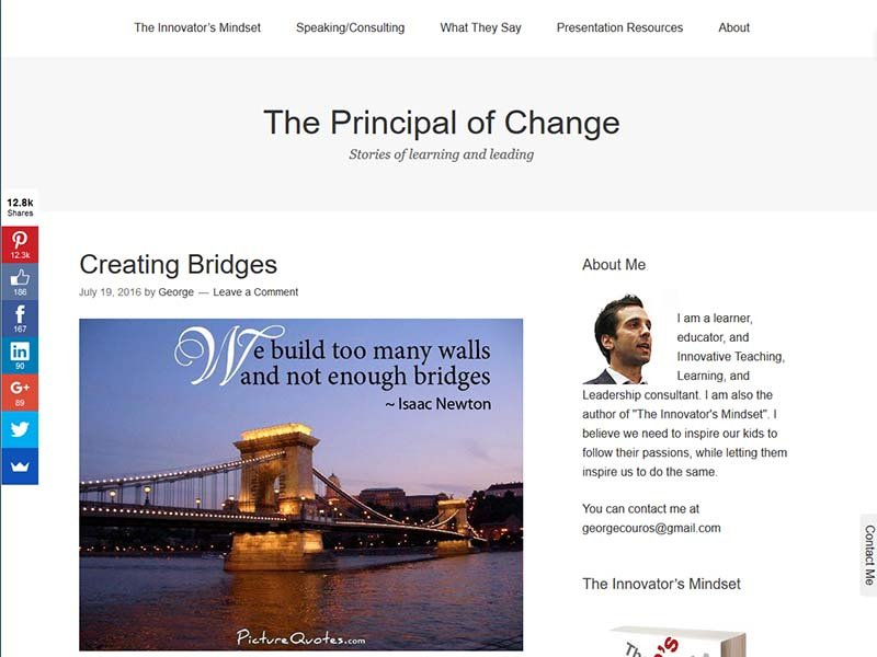 The Principal of Change - Website Screenshot