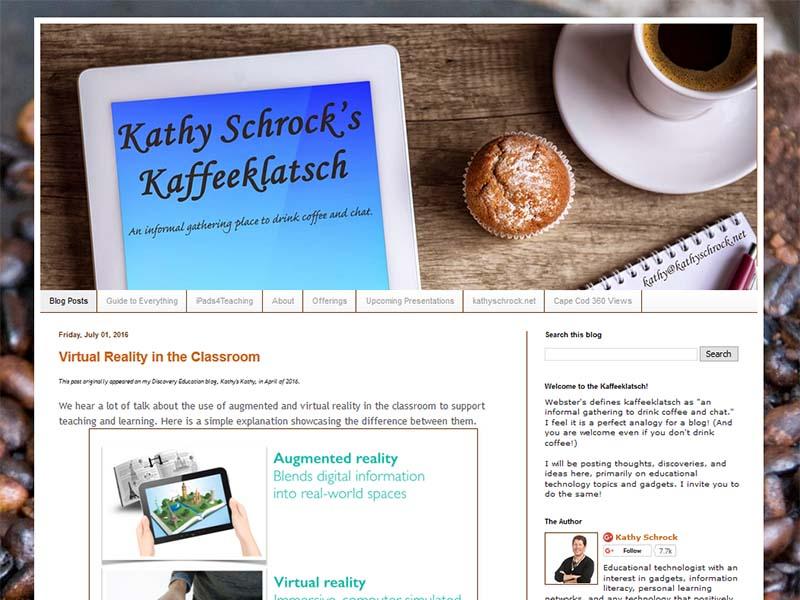 Kathy Schrock - Website Screenshot